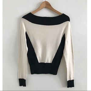 Mixit sweater pullover size S black & white